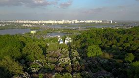 Aerial drone footage of Kiev, Ukraine stock video footage