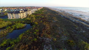 Aerial drone footage of St Augustine Beach Royalty Free Stock Image
