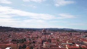 Aerial drone footage video - panoramic view of Florence stock footage