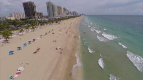 Aerial drone Fort Lauderdale Florida. Stock video of Fort Lauderdale Beach FL stock footage