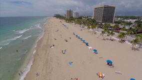 Aerial drone Fort Lauderdale Florida Stock Photo