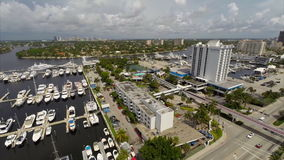 Aerial drone Fort Lauderdale Florida stock video