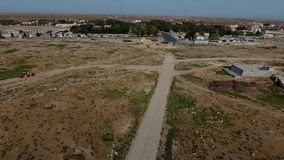 Aerial Drone Historical City stock video footage