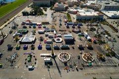 Aerial drone image Broward County Fair Stock Image
