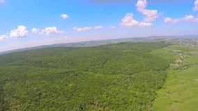 Aerial drone image of farmland landscape.  stock video footage