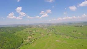 Aerial drone image of farmland landscape.  stock video