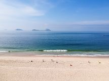 Aerial drone Leblon beach view, Rio de Janeiro stock photo