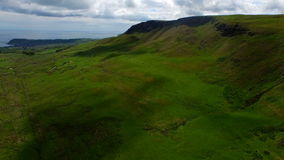 Aerial drone of lush green mountains in Ireland stock video