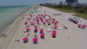 Aerial drone Miami Beach summer Stock Image