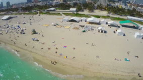Aerial drone Miami Stock Images