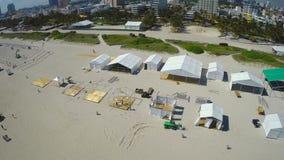 Aerial drone Miami stock footage