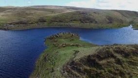 Aerial drone of natural Irish peninsula stock video