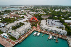 Aerial image of Key west Mallory Square and resorts Stock Photos