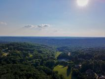 Georgia Golf course from above with drone. Aerial drone photo of Georgia golf course and green trees Royalty Free Stock Image