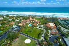 Aerial photo Mar A Lago Palm Beach Florida USA. Aerial drone photo of Mar A Lago Florida USA with beautiful ocean landscape royalty free stock image