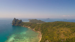 Aerial drone photo of nothern east part of iconic tropical Phi Phi island Stock Photography