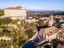 Free Aerial Drone Photo Of Guarene Castle And City In Northern Italy, Langhe And Roero Region Stock Images - 130363204