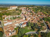 Free Aerial Drone Photo Of Guarene Castle And City In Northern Italy, Langhe And Roero Region Stock Photography - 130363412