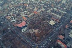 Drone shot of Armenia Yerevan royalty free stock images