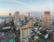 Aerial: Drone Shot Of Manila Bay royalty free stock photo