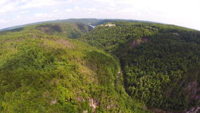 Aerial drone Smokey Mountains Royalty Free Stock Images