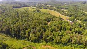 Aerial drone Smokey Mountains