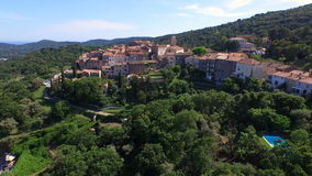 Aerial drone of St Tropez stock video footage