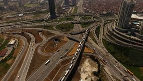 Aerial Drone Timelapse City Traffic stock video