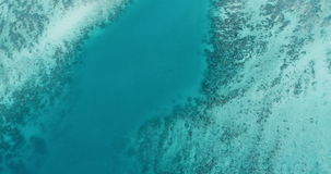 Aerial drone top view video of iconic tropical turquoise water Pileh Lagoon, Phi phi islands stock video footage