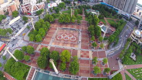Aerial drone video Centennial Olympic Park Royalty Free Stock Photo