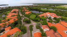 Aerial drone video Deering Bay Miami Stock Photography