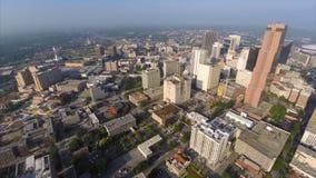 Aerial drone video Downtown Atlanta Georgia Royalty Free Stock Photo
