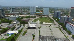 Aerial drone video Downtown Miami stock footage