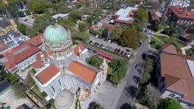 Aerial drone video Flagler Memorial Stock Images