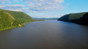 The Hudson River Valley in New York State During Summer
