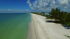 Aerial drone video Fort Myers Beach FL stock video footage