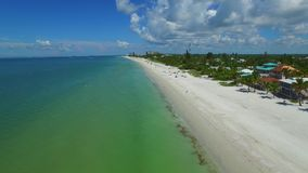 Aerial drone video Fort Myers Beach FL 2 stock footage
