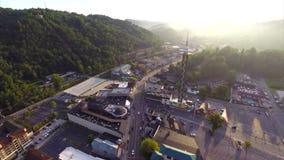 Aerial drone video Gatlinburg Tennessee Royalty Free Stock Photos
