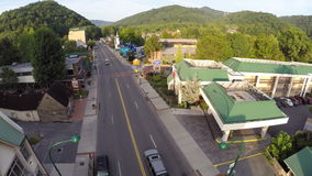 Aerial drone video Gatlinburg Tennessee USA Stock Photography