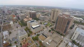 Aerial drone video Houston Texas stock video footage