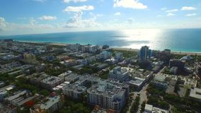 Aerial drone video Miami Beach morning stock video