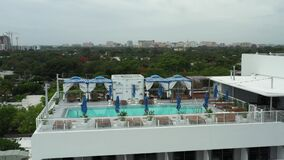Aerial drone video Mr C Hotel Coconut Grove Miami modern construction