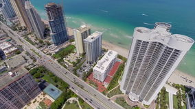 Aerial drone video Sunny Isles Beach FL Royalty Free Stock Photography