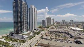 Aerial drone video Sunny Isles Beach Miami Stock Photo