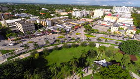 Aerial drone video Young Circle stock video footage