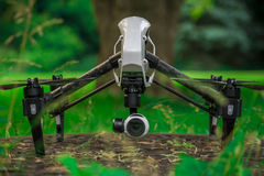 Aerial Drone Videography & Photography 2. Inspire 1 Drone prepairing for takeoff Royalty Free Stock Photo