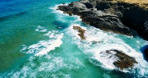 Aerial Drone View Of Dramatic Ocean Waves Royalty Free Stock Images