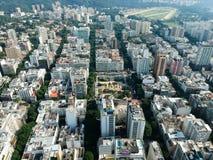 Aerial drone view of Leblon and Jardim Botanico, Rio de Janeiro stock photos
