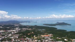 Aerial view from Monkey Hill in Phuket Royalty Free Stock Photography