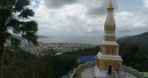 New built temple in Phuket stock video footage